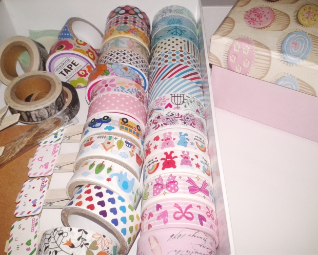 I'm yet to work on this  smart washi tape storage my sister proposed.