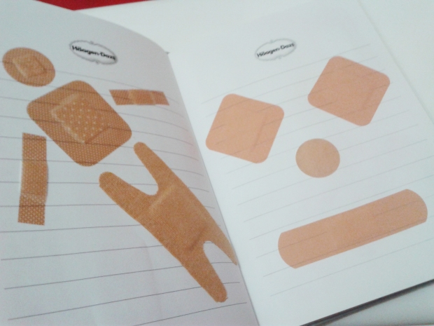 I actually have a notebook plastered with band-aids.