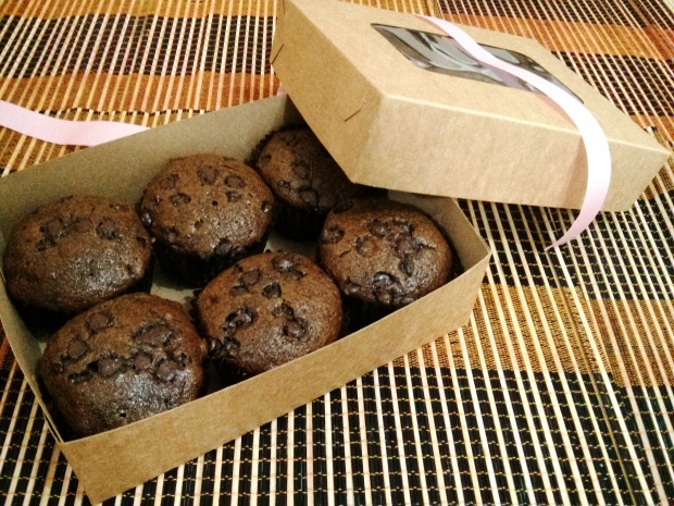 When I first posted the muffins on my Facebook, I had friends asking me if I was taking orders. I gave it a shot and I've been buying boxes to package them since then. :)
