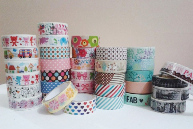 And here's my growing collection of washi tapes.