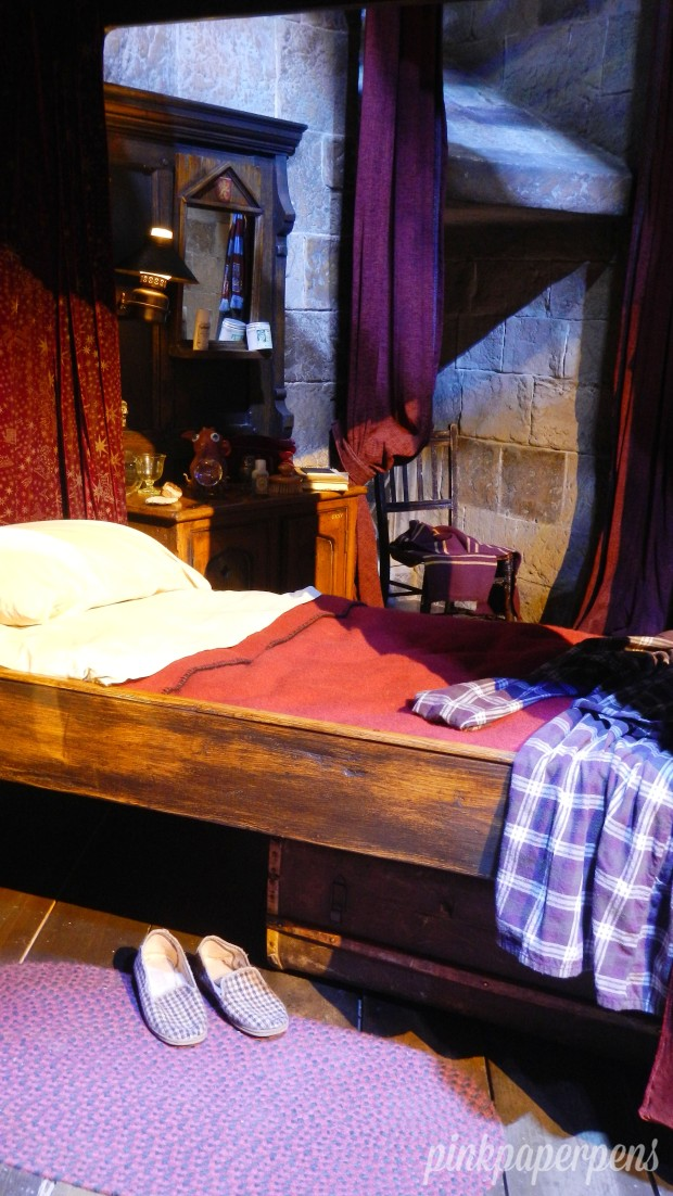 The Gryffindor Boys' Dormitory had beds that fit well when the actors started the series but as they grew up taller, the beds apparently weren't that comfortable anymore.